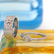 rings and glass